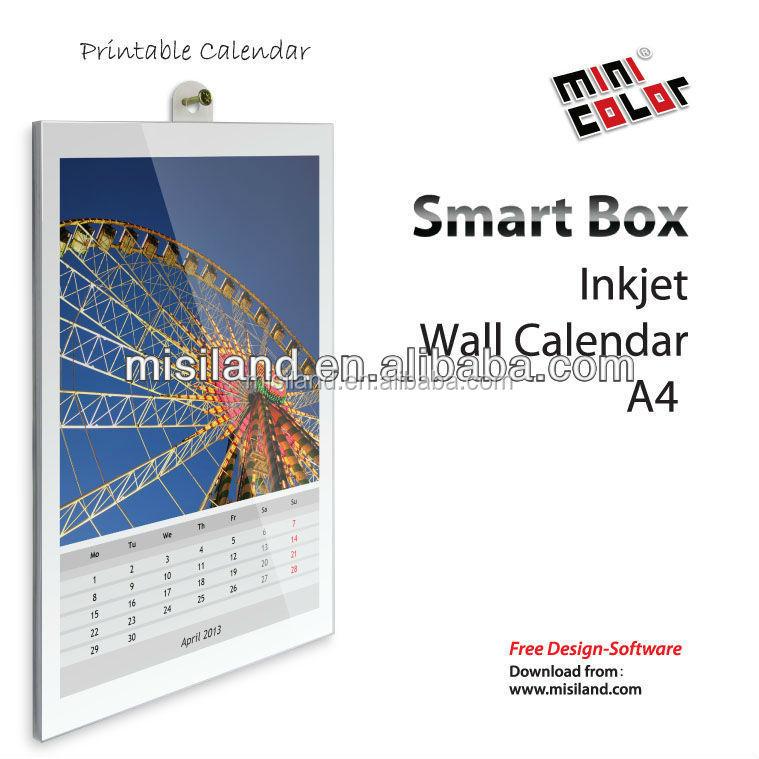 Calendar Diy Software : Creativa mini color diy imprimible de inyección