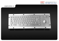 Anti vandal IP65 stainless steel Keyboard with trackball and Mouse function mini size key button