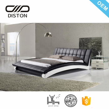 Modern Euro Designs Wave Shape Pu Bed Frames Cheap For Sale Buy