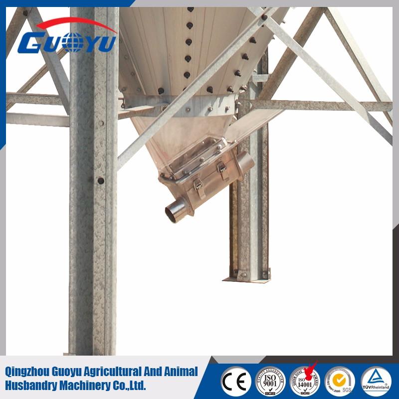 GUOYU poultry equipment fiber glass hopper bottom silo