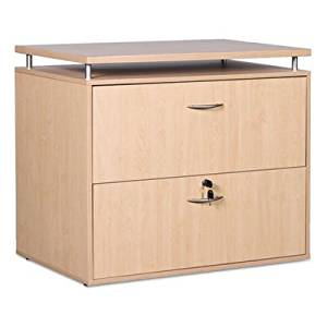 "SedinaAG Series Two-Drawer Lateral File, 36w x 22d x 29-1/2h, Maple by ALERA (Catalog Category: Furniture & Accessories / File Cabinets / Lateral, Wood"")"