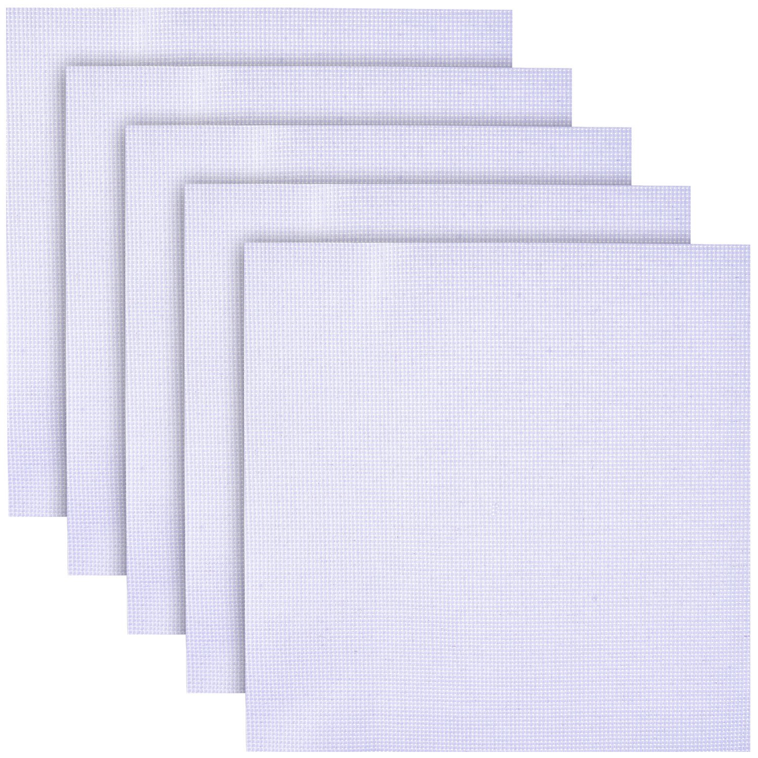 14 Count 14CT White 5pcs Cross Stitch Fabric Eembroidery Fabric Aida Cloth Cross Stitch Supplies Fabric Squares 12 x 12 inch