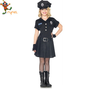 PGCC2846 Child girl cop costume police officer costume