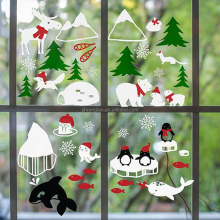 Digital Printing Removable Static Cling Stickers Christmas Vinyl Window Cling Film