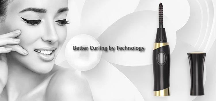 Mini Elektrische Wimpers Curler Automatische Langdurige Verwarmde Wimper Make-Up