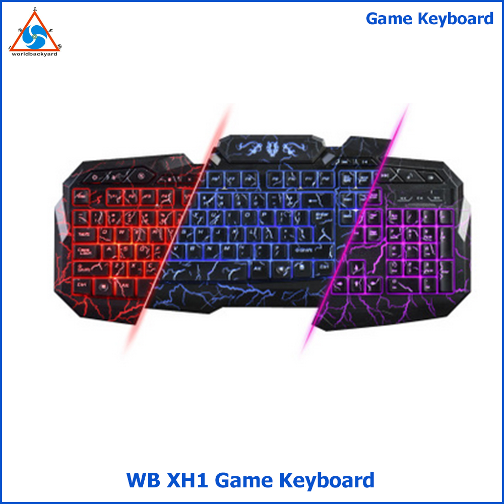 WB XH1 Mechanical keyboard hand feeling back light wired game keyboard