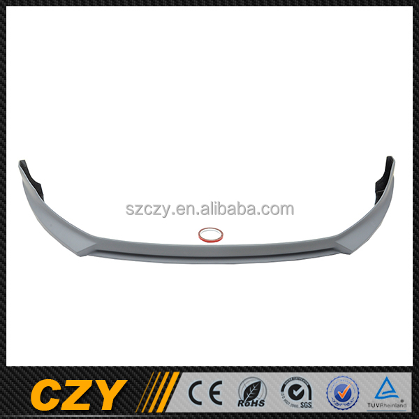 R Style PU Car Front Lip Splitter for VW Golf VI 6 MK6