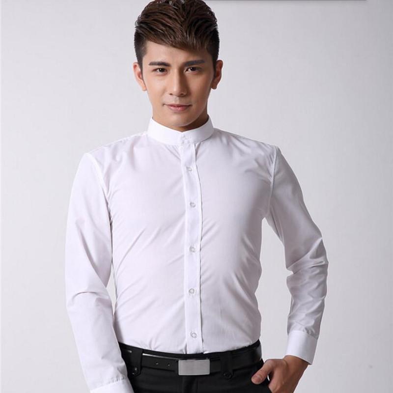 cuello mao camisa esmoquin al por mayor de alta calidad de