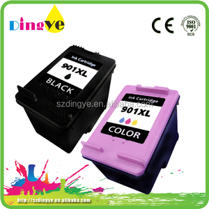 hot sele remanufactured ink cartridges for hp 901xl with chip reset