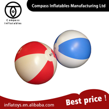 Funny Customized Outdoor Toys Plastic Pvc Beach Inflatable Ball With Logo Printing