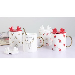 Customized design gifts mr mrs coffee ceramic couple mug set for promotional