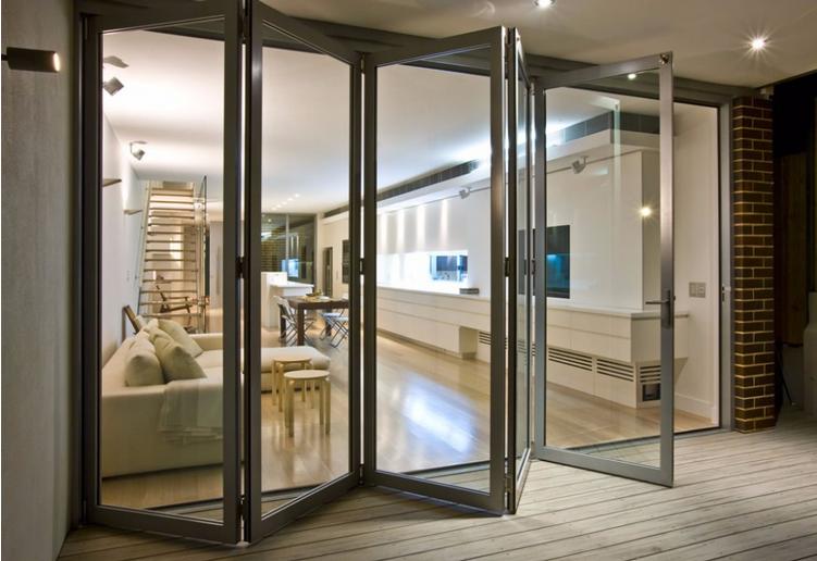 Einzigartig Exportiert USA aluminium falttür, außen glas falttüren-Tür-Produkt  QP91