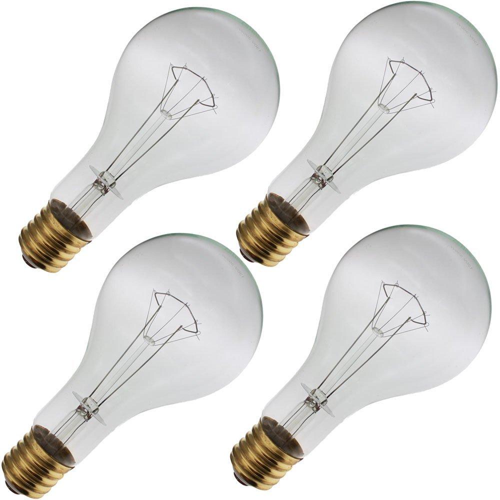 Satco S4961 300W 130V PS35 Clear E39 Mogul Base Incandescent light bulb