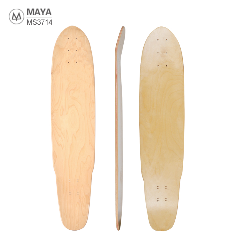 Blank dancing skate board deck long board deck 8ply Northeast Maple 39*9.5inch Wholesale Unfinished longboard deck MS3714