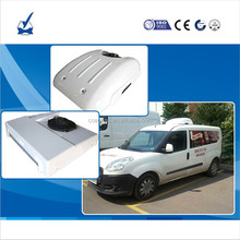 Roof mounted 12V Electric DC battery powered transport refrigeration units for cooling refrigeration unit cargo van