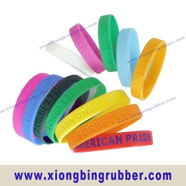2012 trend silicone promotional wristbands