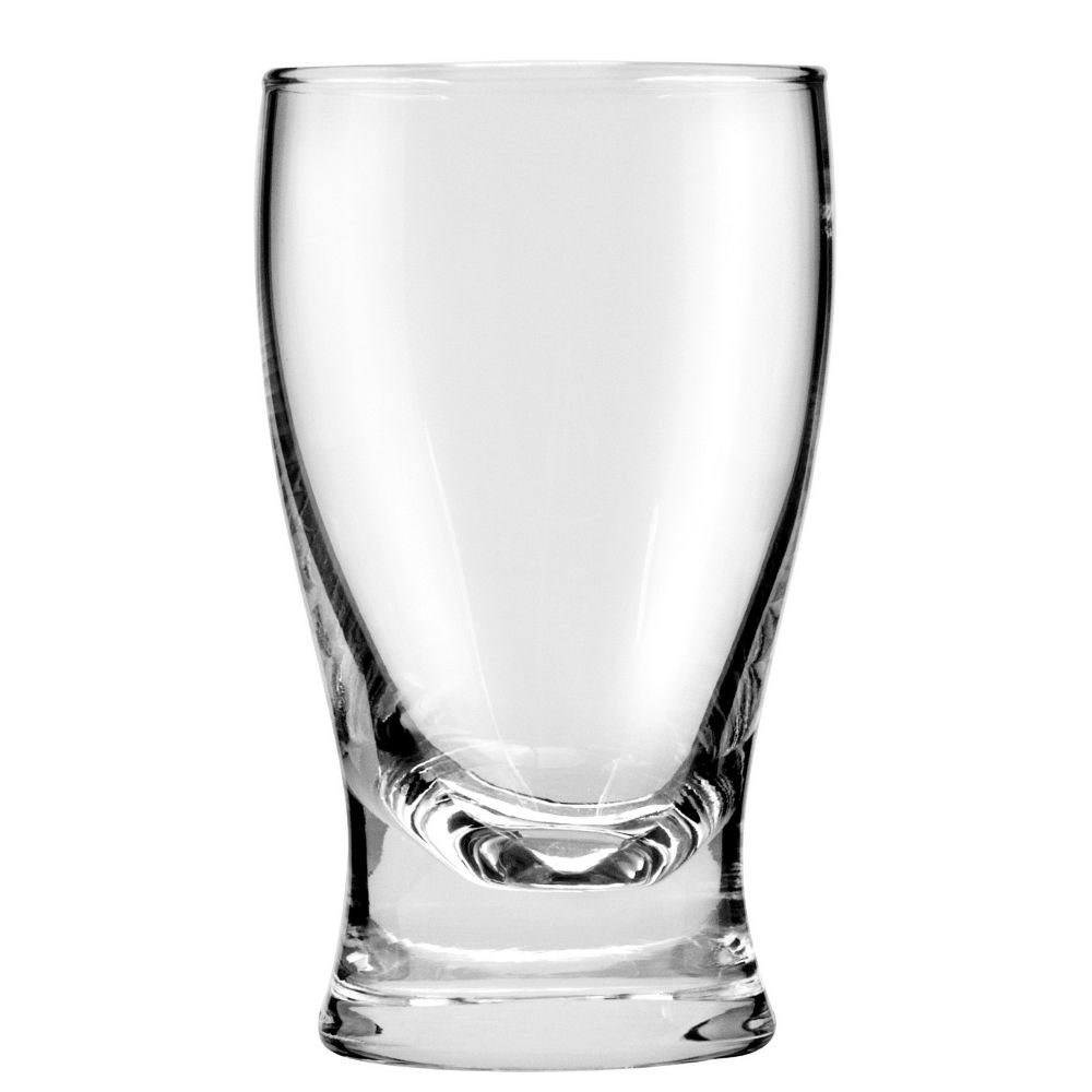 Pilsner glass with solid brass bottom