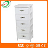 China Supplier Modern Design White Wood Storage Chest of Drawers