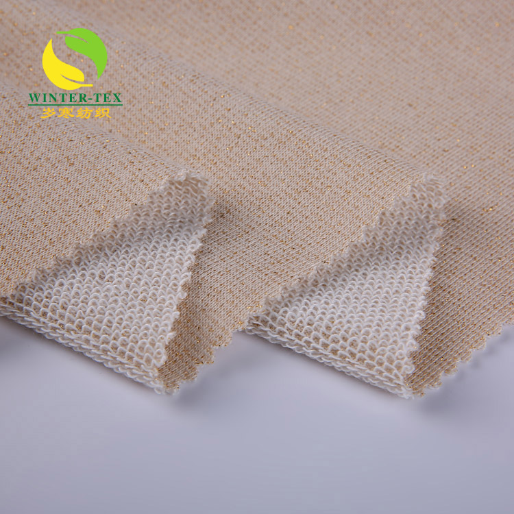 professional cheap elastic clothing polyester fabric price kg french terry