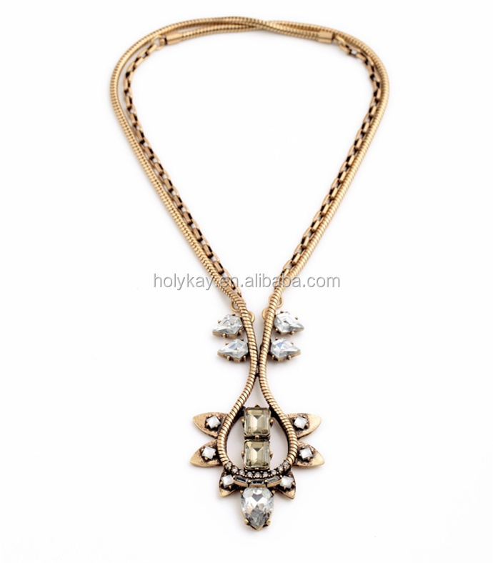 Hot new products for 2015 fashion vintage alloy neclace gold