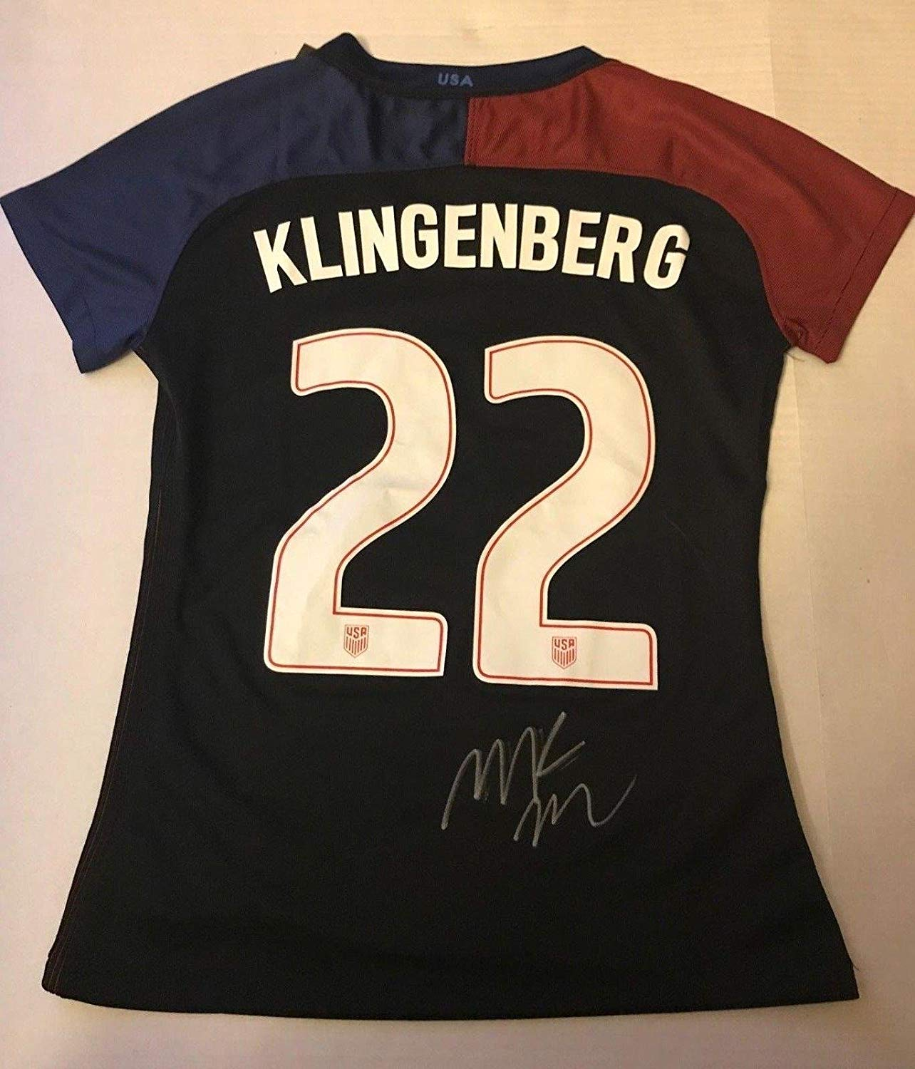 73000b8bb Get Quotations · Meghan Klingenberg Thorns signed Team USA jersey  autographed USA Womens Soccer - Autographed Soccer Jerseys