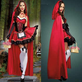 Halloween Little Red Riding Hood nightclub queen cosplay stage dress