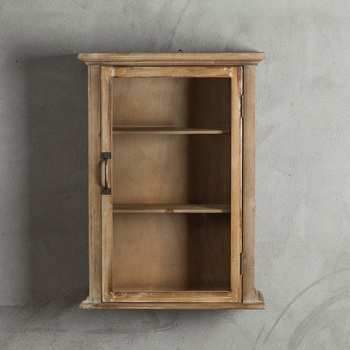 Rustic Wall Mounted Wooden Cabinet With Single Door
