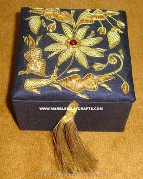 Excellent Zari Hand Embroidery Jewelry Box Buy Excellent Zari Hand