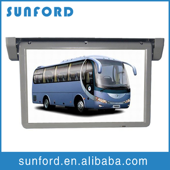 Hd flip down motorized lcd car monitor tft lcd screen in for Motorized flip down tv mount