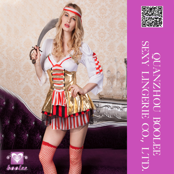Hot popular New Fantasy women Sexy Pirate Wench Costume