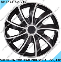 Hot Sell Plastic Black And Silver Universial Car Wheel Covers