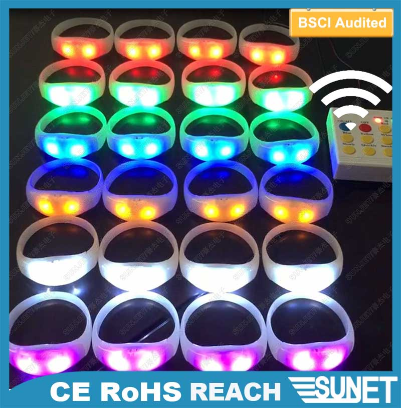 event supplies concert light flashing cheering tools print led bracelet