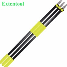 Aluminum telescopic paint roller handle with extendable broom pole