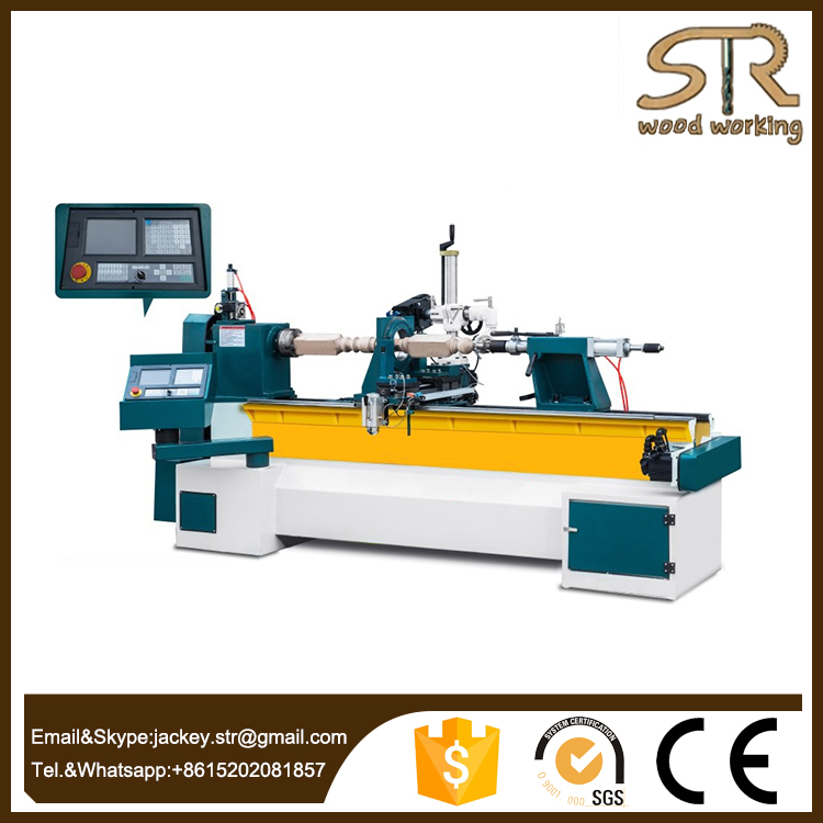 Professional design Semi-automatic multi-function CNC wood lathe