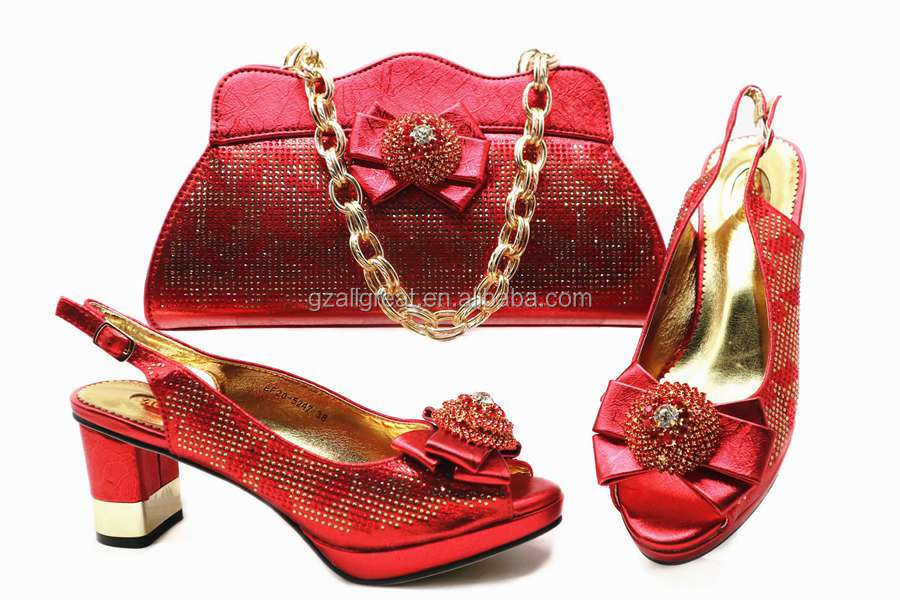 AB5809 Italian To Match Italian Shoe and Bag Purple Women Shoes and Bags Match Set Sale African Shoes
