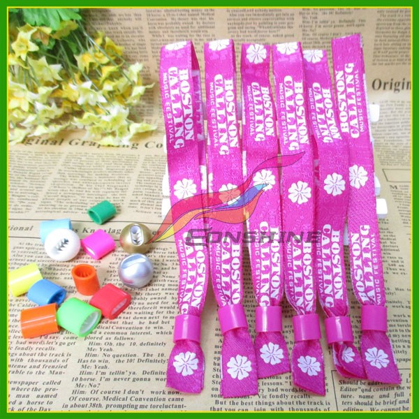 Wholesale Custom Festival party wristband Woven Braided Fabric Bracelet