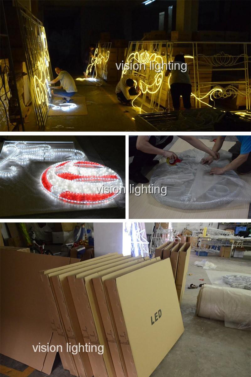 ขนาดใหญ่ LED คริสต์มาส 300 ความยาว Reindeer Lighted Motif Commercial คริสต์มาสแสดง