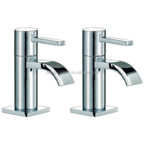 Luxury Good Price Twin Basin Bath Pair Taps Waterfall Basin Faucets