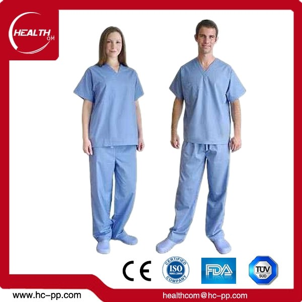 Usa e getta 2018 Infermiera Set Top Hospital Medical Scrubs Uniforme