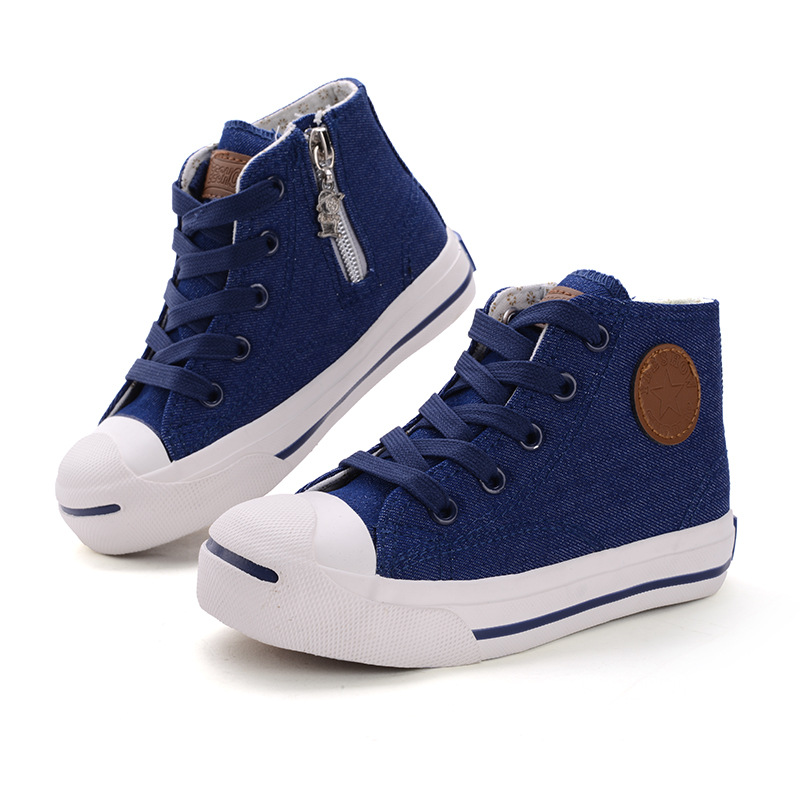2015 New Child Casual Shoes Spring Autumn Canvas Children Sneakers Boys Girls Kids Sport Brand Flats  Hot Sale 2024