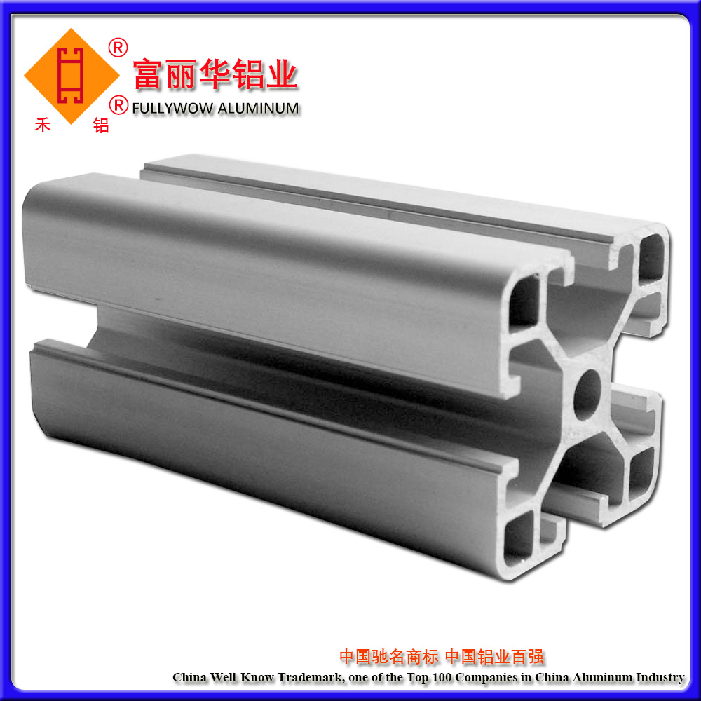 High Strength Aluminum Profile Rail with Various Surface Treatment for Windows or Doors Rail