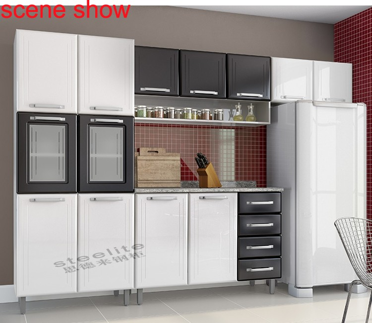 Where To Buy Used Kitchen Cabinets: Cheap Price Metal Furniture Orange 3 Door Used Kitchen