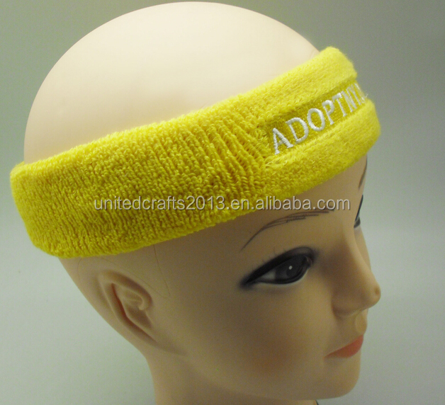 2016 high quality Sports Athletic Terry Cotton Cloth Head Sweatband Sweat Headband