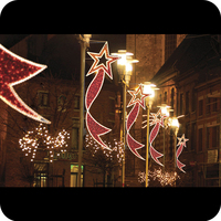 2016 street rope motif christmas led pole light outdoor decor