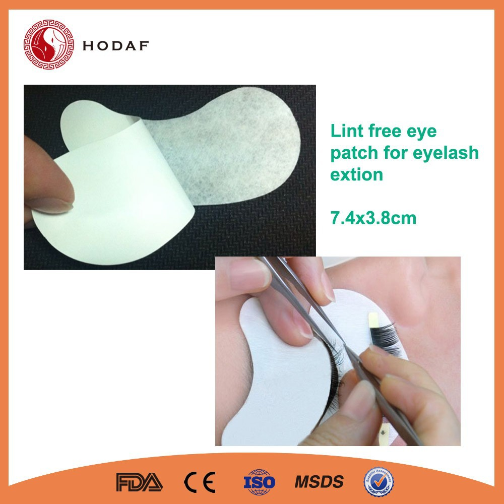 7.4x3.8cm,white protect film lint free eye gel patch for eyelash extension