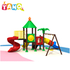 kid plastic play house slide outdoor playground garden play area for kids