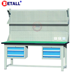 Durable Stable Steel Garage Industrial Workbenches tool cabinet work bench with tools