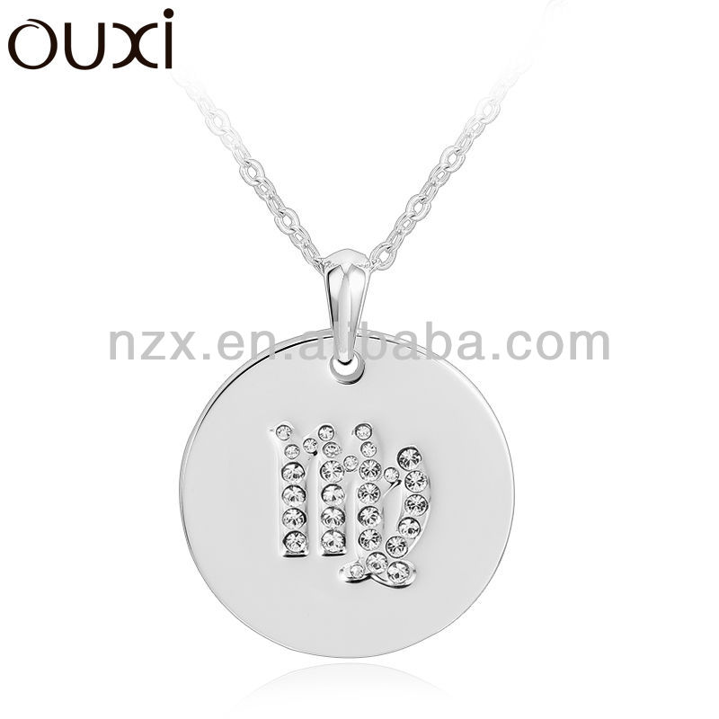 OUXI 2015 crystal led necklaces made with Austria crystal 10756