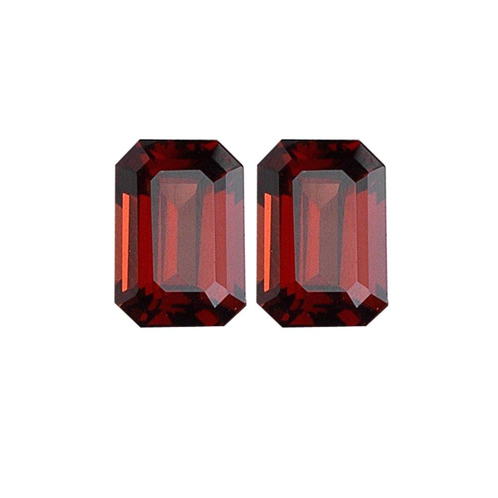 3.80-4.00 Cts of 8x6 mm AAA Emerald Mozambique Garnet ( 2 pcs ) Loose Gemstones