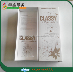 Fashion Custom paper hair/wig extension packaging box with lid